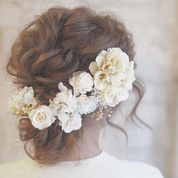 bridal white* ヘッドドレス|ヘッドドレス(ウェディング)|amarige|ハンドメイド通販・販売のCreema