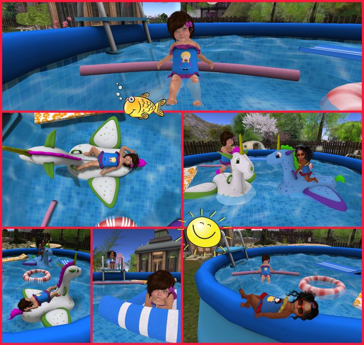 Last night I put on my most cutest swim suit and ran over to my bestie Cora's house and cannonballed right into her pool, sending water all over the place. We played with the riding floating horses...