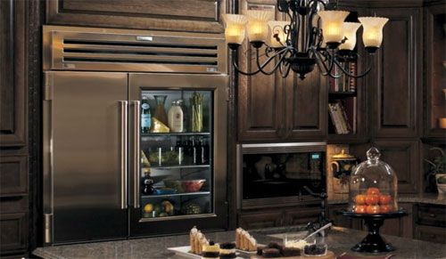 This Sub Zero Pro glass door refrigerator would be the perfect addition to every dream kitchen