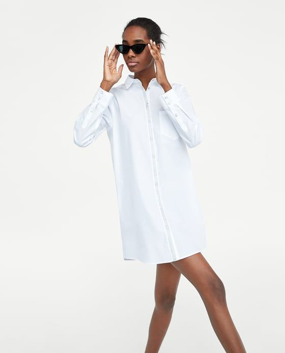 SHIRT DRESS WITH TRIMS-View all-DRESSES-WOMAN | ZARA United States