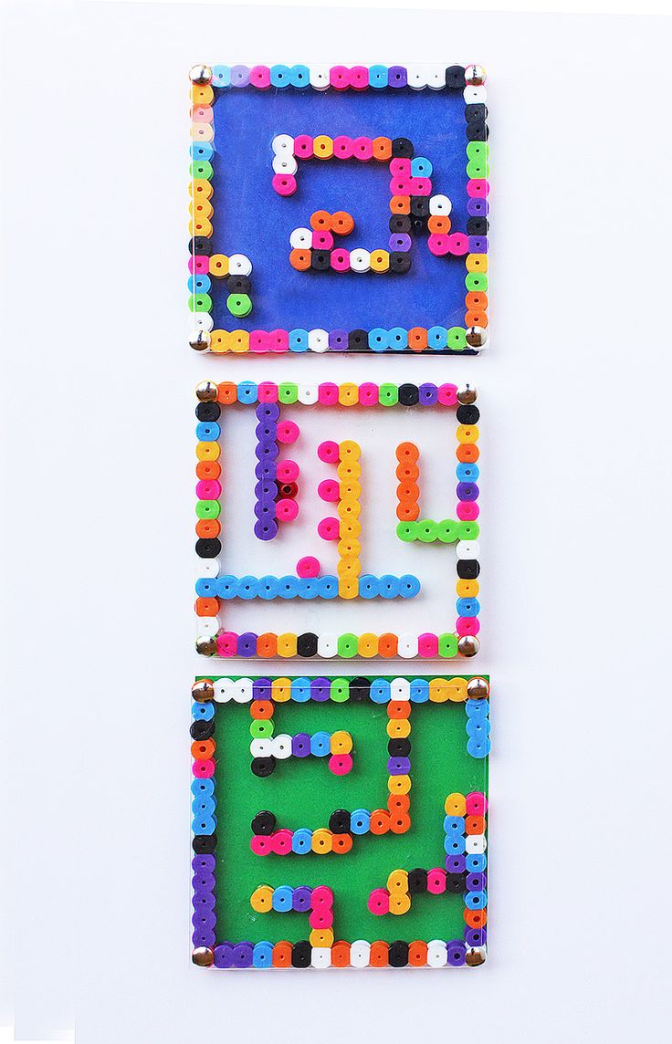 DIY Toy: Perler Bead Mazes // Could use for a 'God is with me wherever I go' or 'choosing the right way' theme. If you had time, it would be great for the kids to make these. If not, playing with pre-made ones would still be fun.