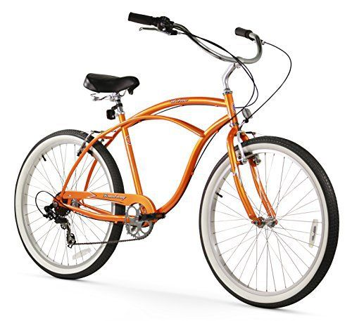 Firmstrong Urban Man Seven Speed Beach Cruiser Bicycle, 26-Inch, Orange - http://www.bicyclestoredirect.com/firmstrong-urban-man-seven-speed-beach-cruiser-bicycle-26-inch-orange/