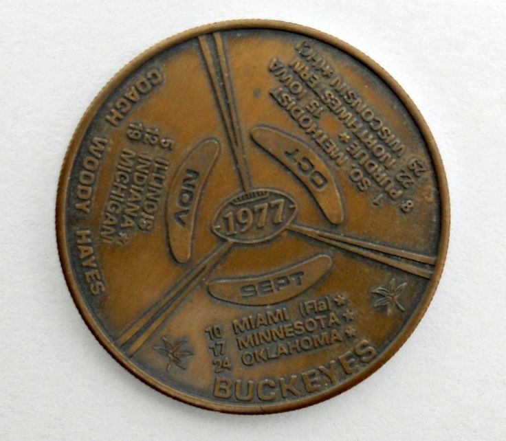 1977 ohio state buckeyes schedule coin