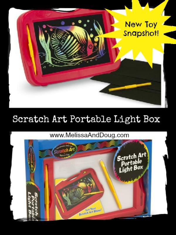 New Scratch Art Light Box: Let your kid's artwork shine!