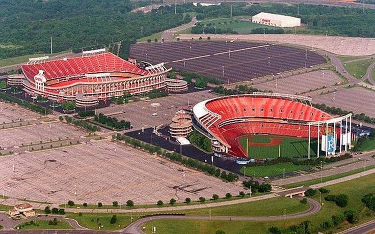 Kansas City's sports venues took a giant leap into the future in 1972 with the fall opening of Arrowhead Stadium, at left, Royals Stadium, at right, opened the following spring.