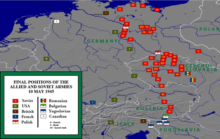 Allied Army Positions @ Close of WWII, 1945