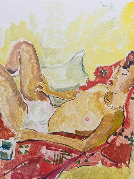 Irma Stern - Sunbathing Nude
