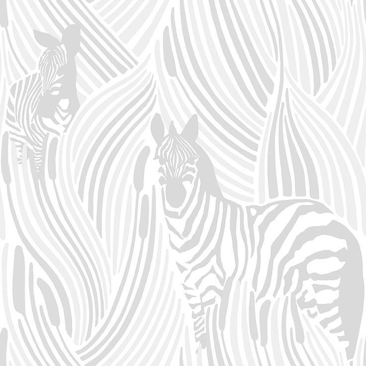Piilossa white by Riina Kuikka - Wallpapers / Tapetit