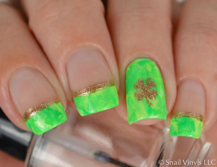 78 best St. Patrick\'s Day Manicures images on Pinterest | Art ideas ...