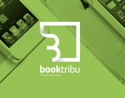Booktribu - basic branding, adding 3d elements without too much realistic styling