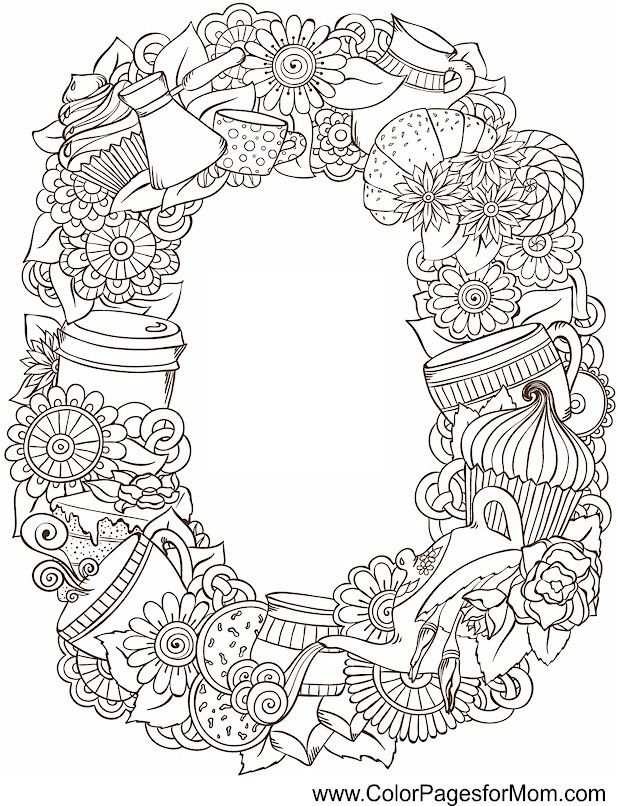 coffee coloring page 8