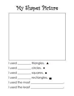 Keen On Kindergarten: math work stations- shapes picture