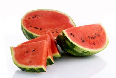 "Watermelon~A recent study showed that women who ate water-rich foods lost 33% more weight in the first 6 months than women on a low-fat diet. Watermelon also contains vitamins A and C, as well as the ""mother of all antioxidants,"" glutathione, which is known to help strengthen the immune system."