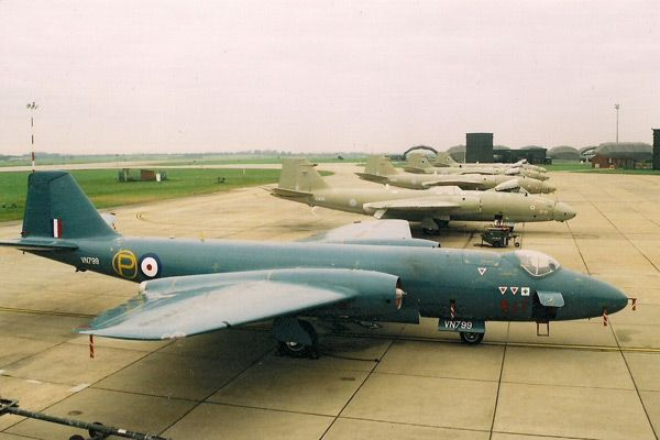 classic aviation   English Electric Canberra line up at RAF Marham. Photo by Chris Cannon