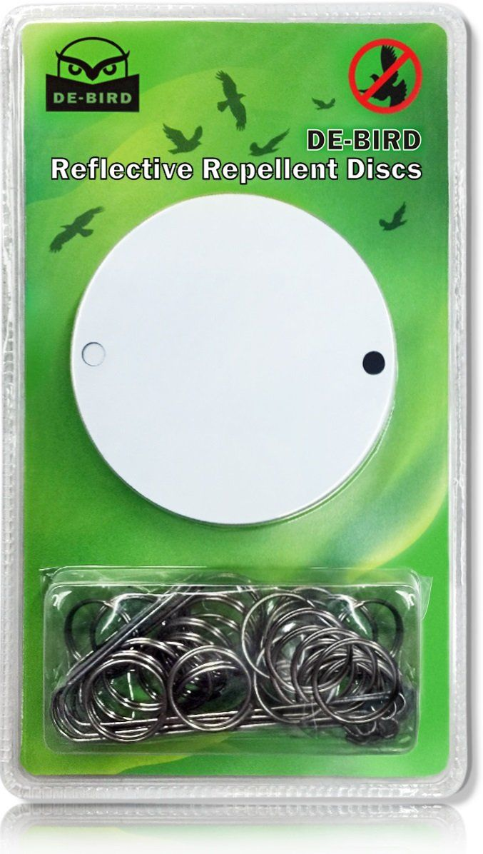 Amazon.com : Bird Repellent Discs, Great Repeller to Control Woodpeckers, Pigeons and Other Pests. Deterrent Works with Netting, Scare Tape, Spikes, Scarecrows or a Decoy Owl. Keep Birds Away. : Patio, Lawn & Garden