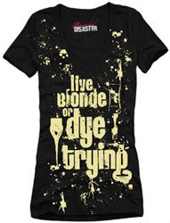 Live Blonde Womens V Neck Tee|SubCulture Clothing Store