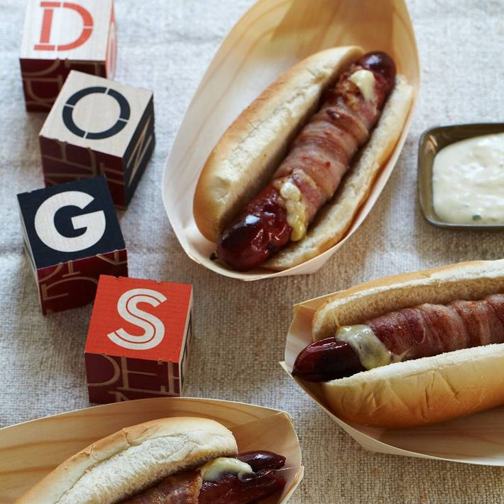 Hot Dogs With Pineapple Bacon Relish Recipe — Dishmaps