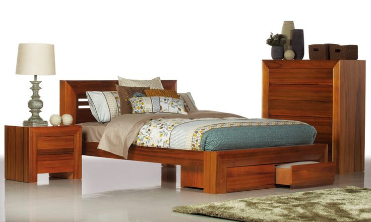 $1499 Azure - Timber Queen Size Bed | Bedshed