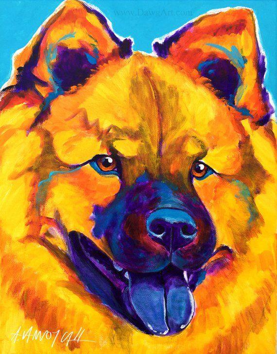 Chow Chow Pet Portrait Dawgart Dog Art Chow Chow Art Original