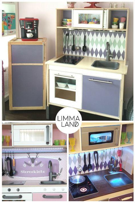 DUKTIG Hacks: Es gibt so viele Ideen die IKEA DUKTIG Kinderküche zu pimpen. Vom passenden Kühlschrank bis zu Innenbeleuchtung und Drehknöpfen. Auf dem Blog haben wir die besten Ideen auf einem Blick zusammengefasst und zeigen, wie einfach es geht!