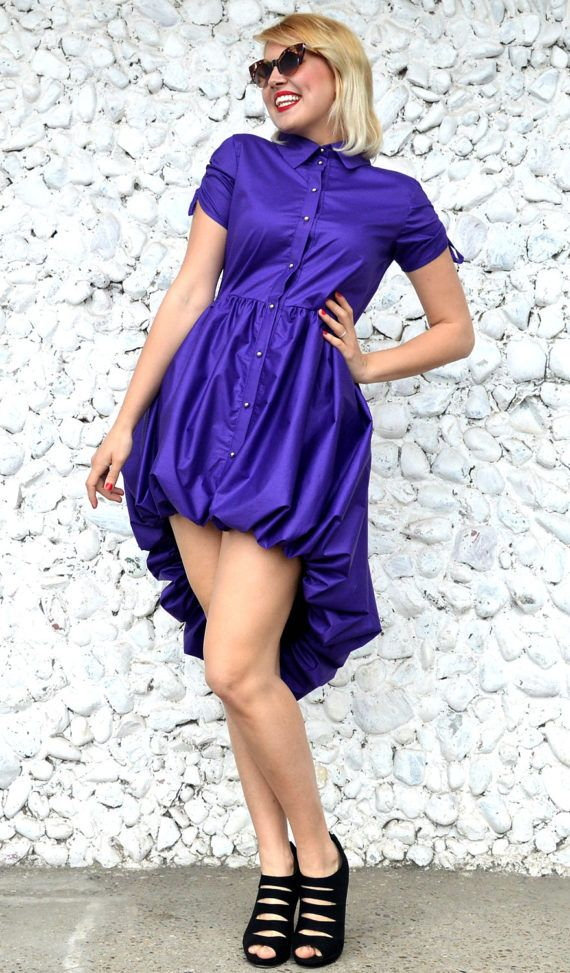 Purple Extravagant Dress TDK249 Short Stylish Dress with https://www.etsy.com/listing/507224854/purple-extravagant-dress-tdk249-short?utm_campaign=crowdfire