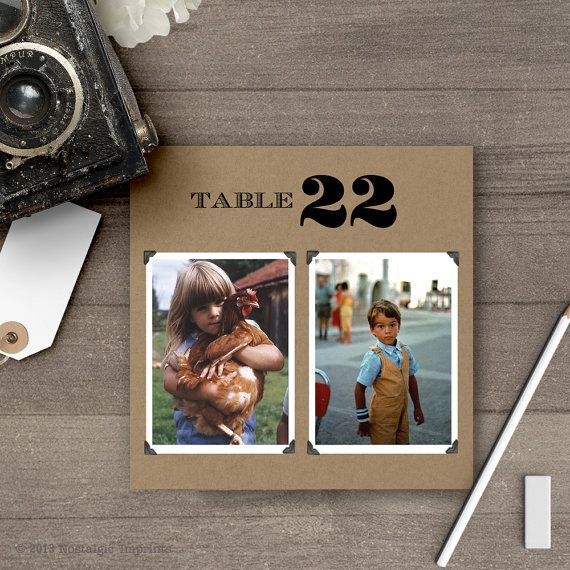Photo Table Numbers / Photo Wedding Table by NostalgicImprints                                                                                                                                                                                 More