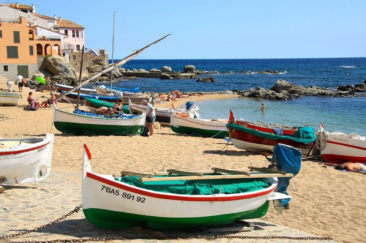 Colorful Fishing Boats - Llafranc, Spain - Photo