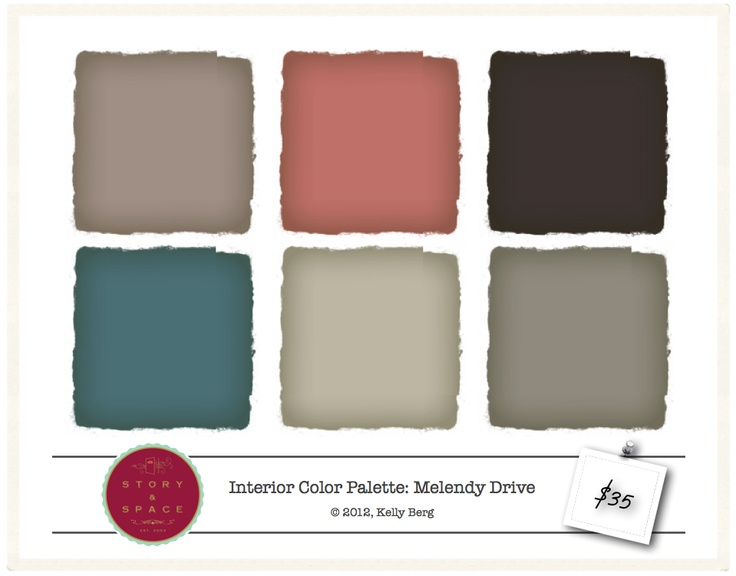 Melendy Drive - Interior Color Palette - $35