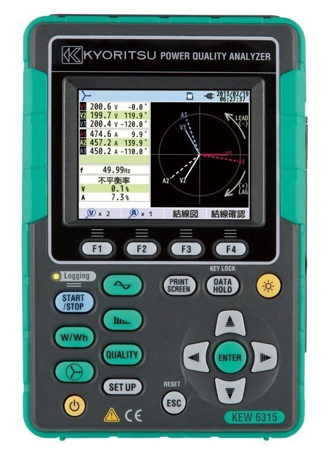 Kew 6315 Power Quality Analyzer The Power Analyser Kyoritsu 6315 Is Used For The Analysis Of Performance And Harmonics Graphing Calculator Start Screen Power