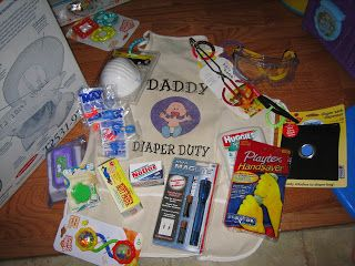 Daddy Diaper Duty Apron- except in a basket and some tongs ...