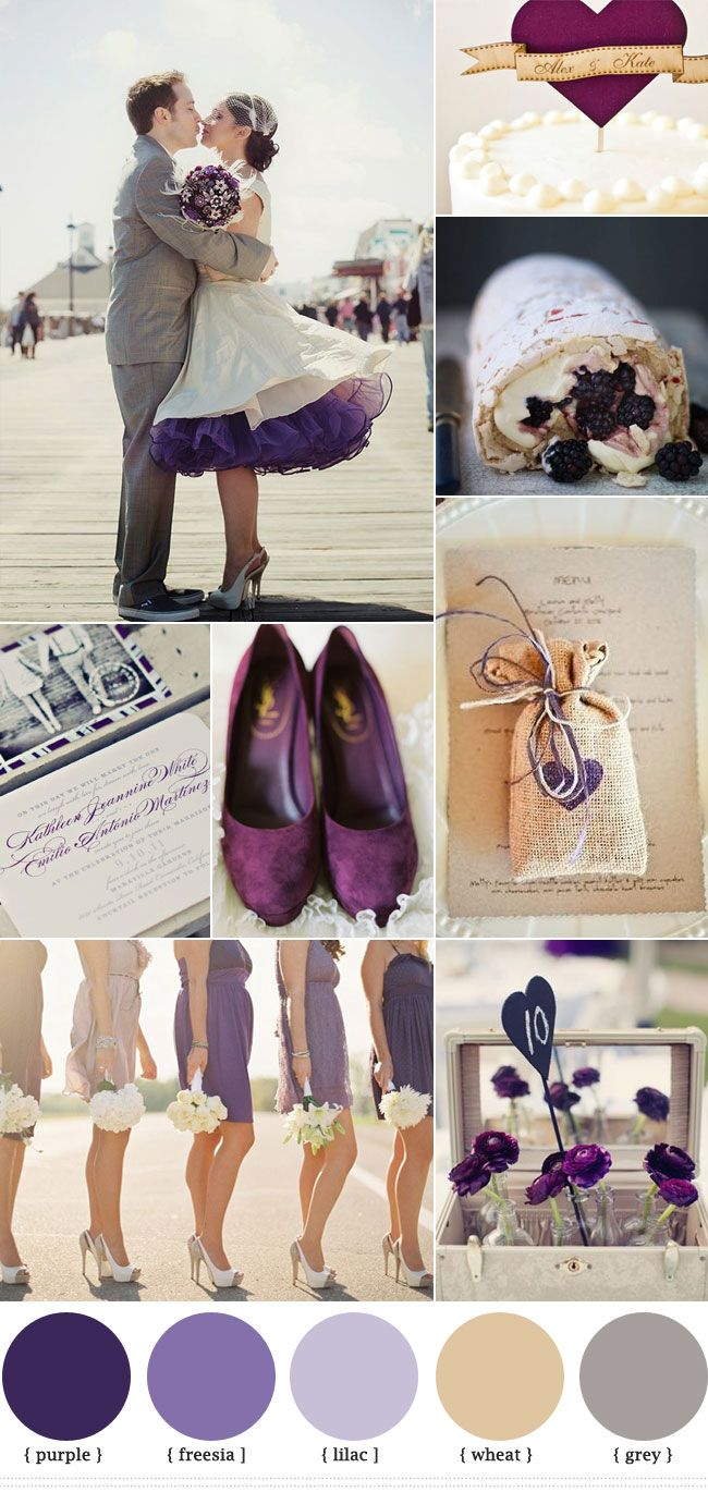 Read more Purple Grey Wedding Colors, autumn wedding    http://www.fabmood.com/purple-grey-wedding-colors/