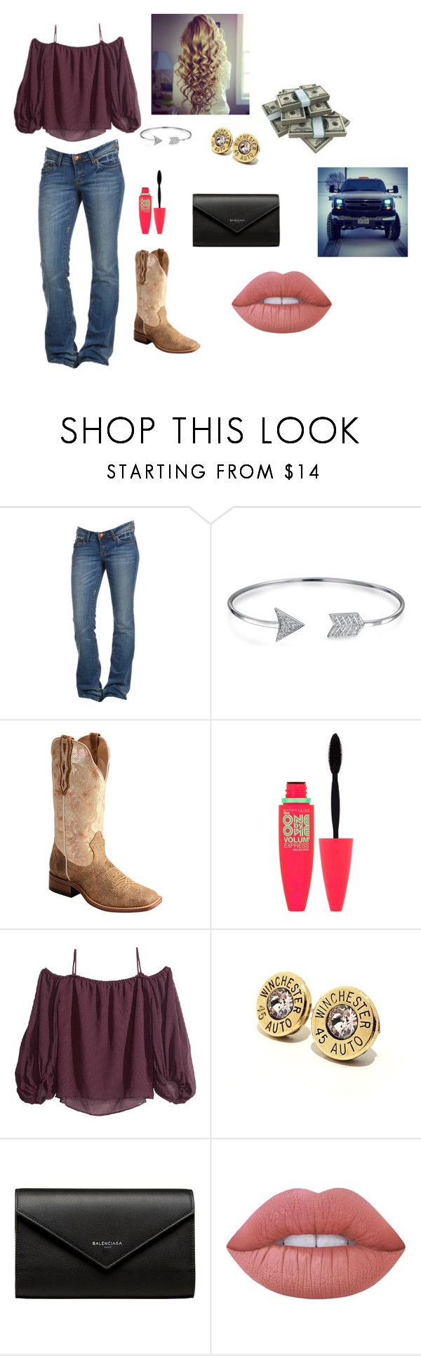 """""""Going out"""" by itsyagirlhar on Polyvore featuring Bling Jewelry, Maybelline, Balenciaga and Lime Crime"""