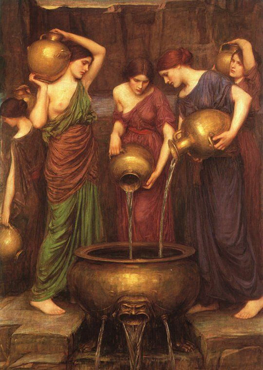 The Danaides. John William Waterhouse:
