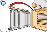 Батарея центрального отопления порой является излишне заметной деталью интерьера помещения. Батареи новой конструкции чаще всего отличаются высокой ценой и сложностью установки. Удачным решением может быть использование декоративного экрана – он делает батарею практически незаметной. Размеры экрана определяются размерами самой батареи. #DIY #радиатор #Россия #Skilhelps