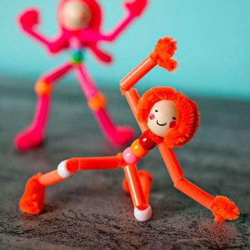 Construct these acrobatic friends, then pose them any way you like.                 Originally published the April 2013 issue of FamilyFun magazine.