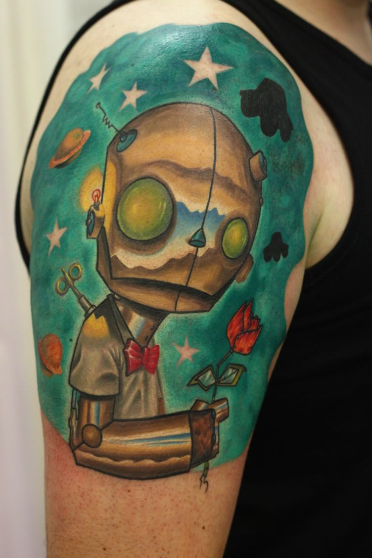 Route 66 tattoo picture at checkoutmyink com - Christopher Uminga Inspired Robot Tattoo Done By John Anderton At Nemesis Tattoos In The