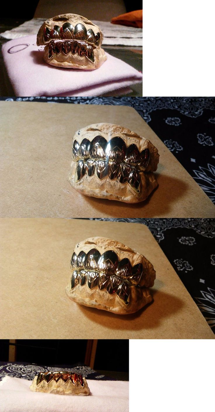 Grillz Dental Grills 152808: 10K Solid Real Gold Grillz Teeth Custom Fit (Not Plated) Free Cleaning Cloth -> BUY IT NOW ONLY: $194.99 on eBay!