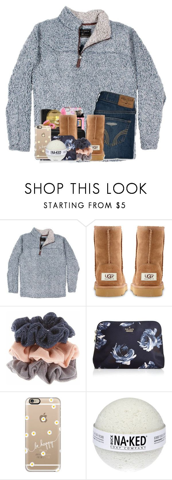 """Face reveal in items!"" by cassieq6929 ❤ liked on Polyvore featuring True Grit, Hollister Co., UGG Australia, Kate Spade and Casetify"