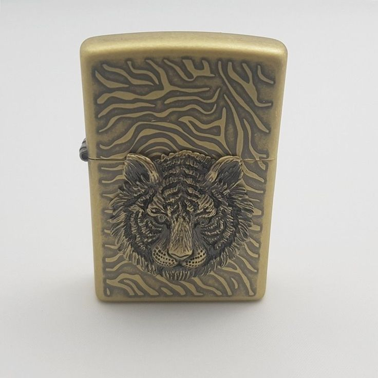 Zippo Original Lighter Tiger Eye Emblem Gold Authentic USA Free Gift 6Flints #Zippo