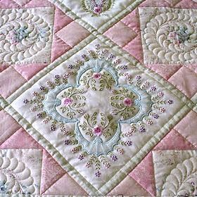 80 best Designs by Janet Sansom images on Pinterest | Cushions ... : embroidered quilts patterns - Adamdwight.com
