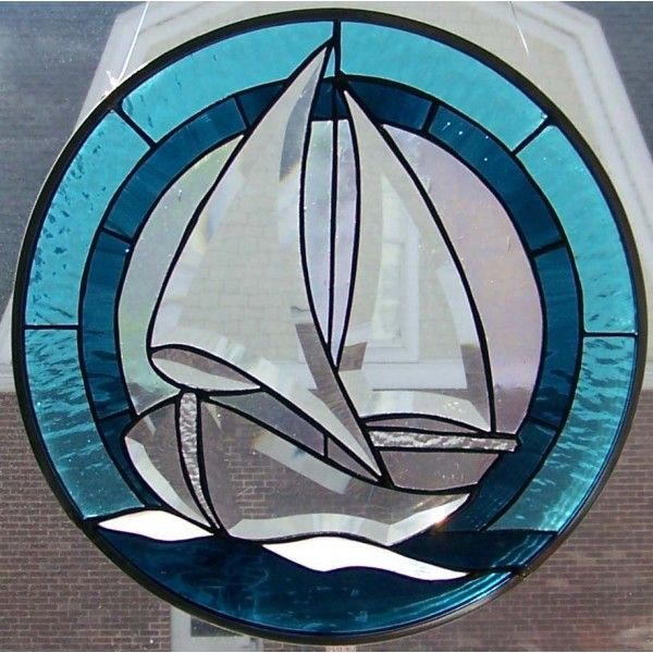 sale stained glass sailboat | Home > Portfolio > Window and Doors > Sailboat Bevel Panel