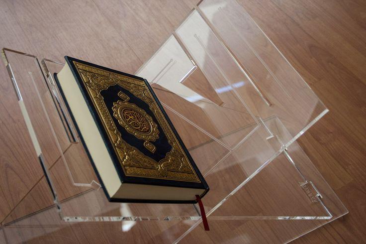 Kashida Design - 3D Arabic Calligraphy - Al Kitab Quran Stand: based on Arabic word for 'The Book'.