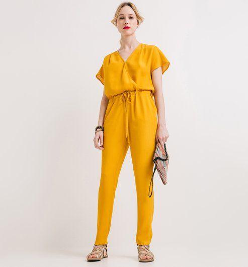 Combinaison-pantalon Femme ocre clair - Promod
