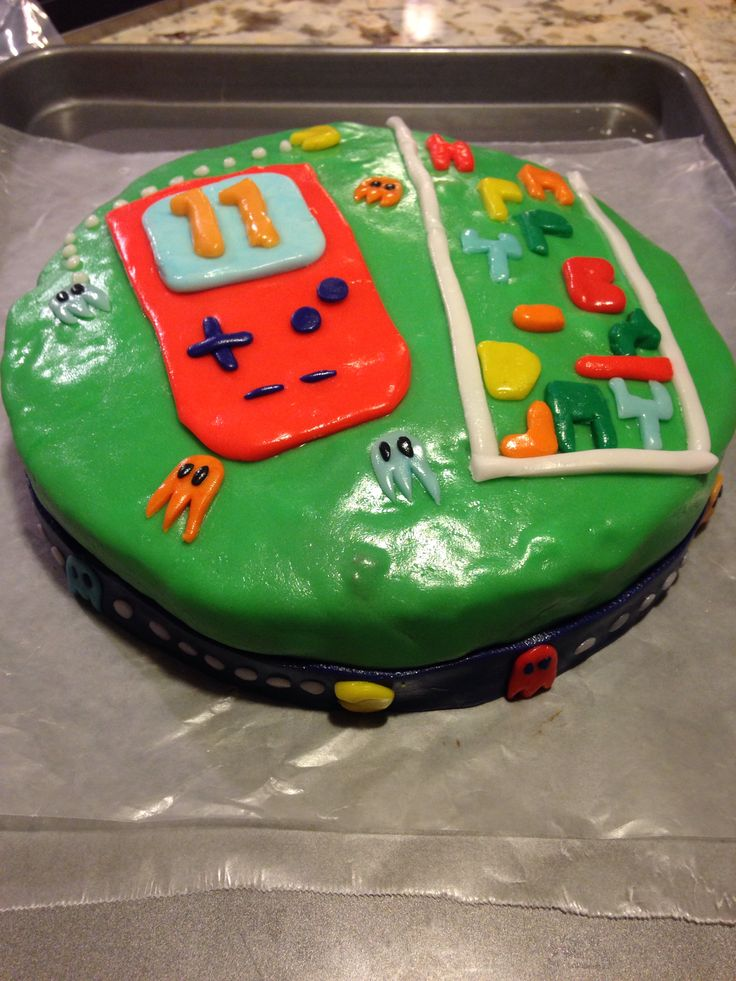 Fast Last Minute Video Game Cake I Made For An  Year Old Boy - Tetris birthday cake