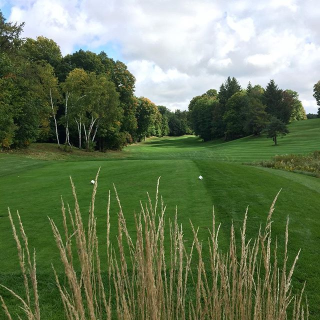 #fall #golf @pheasantrungolf Highlands #1 #par5 521 from the whites