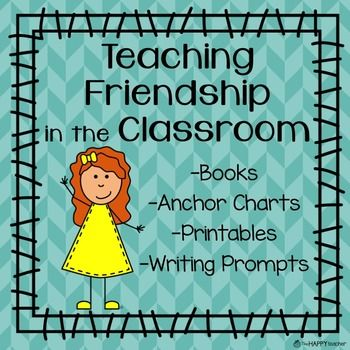 """Teach students about friendship with these student activities & printables.  After reading the book """"Peanut Butter & Cupcake"""" by Terry Border, create an anchor chart about the characteristics of a good friend.  In this freebie, you'll find two printables where students can brainstorm how to be a good friend."""