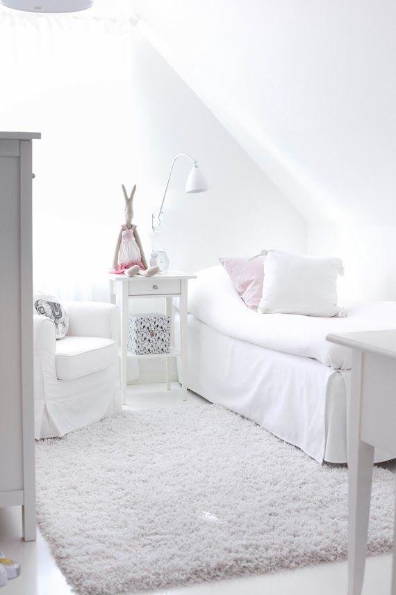 All White Kids Bedroom