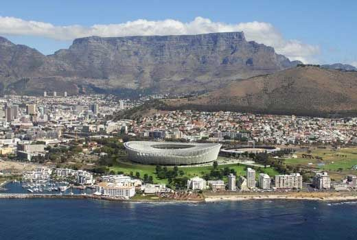 Table Mountain and the 2010 stadium