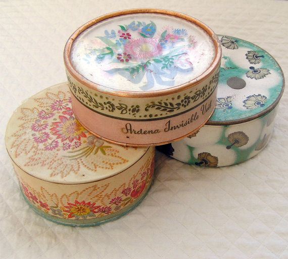 Vintage Cosmetic Containers                                                                                                                                                                                 More