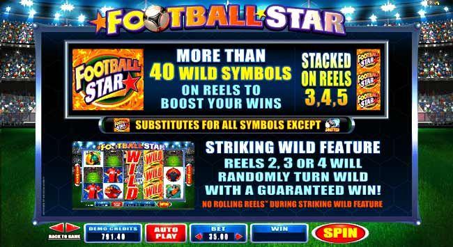 Enjoy online casino football slot game at Wintingo online casino